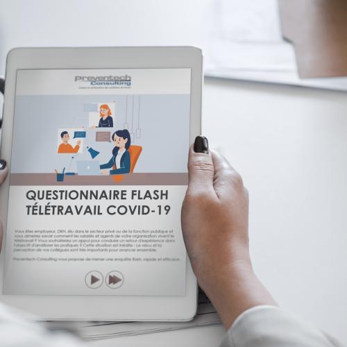Questionnaire flash Covid-19 sur le Télétravail